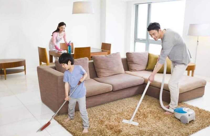 dọn dẹp nhà cửa để xả stress