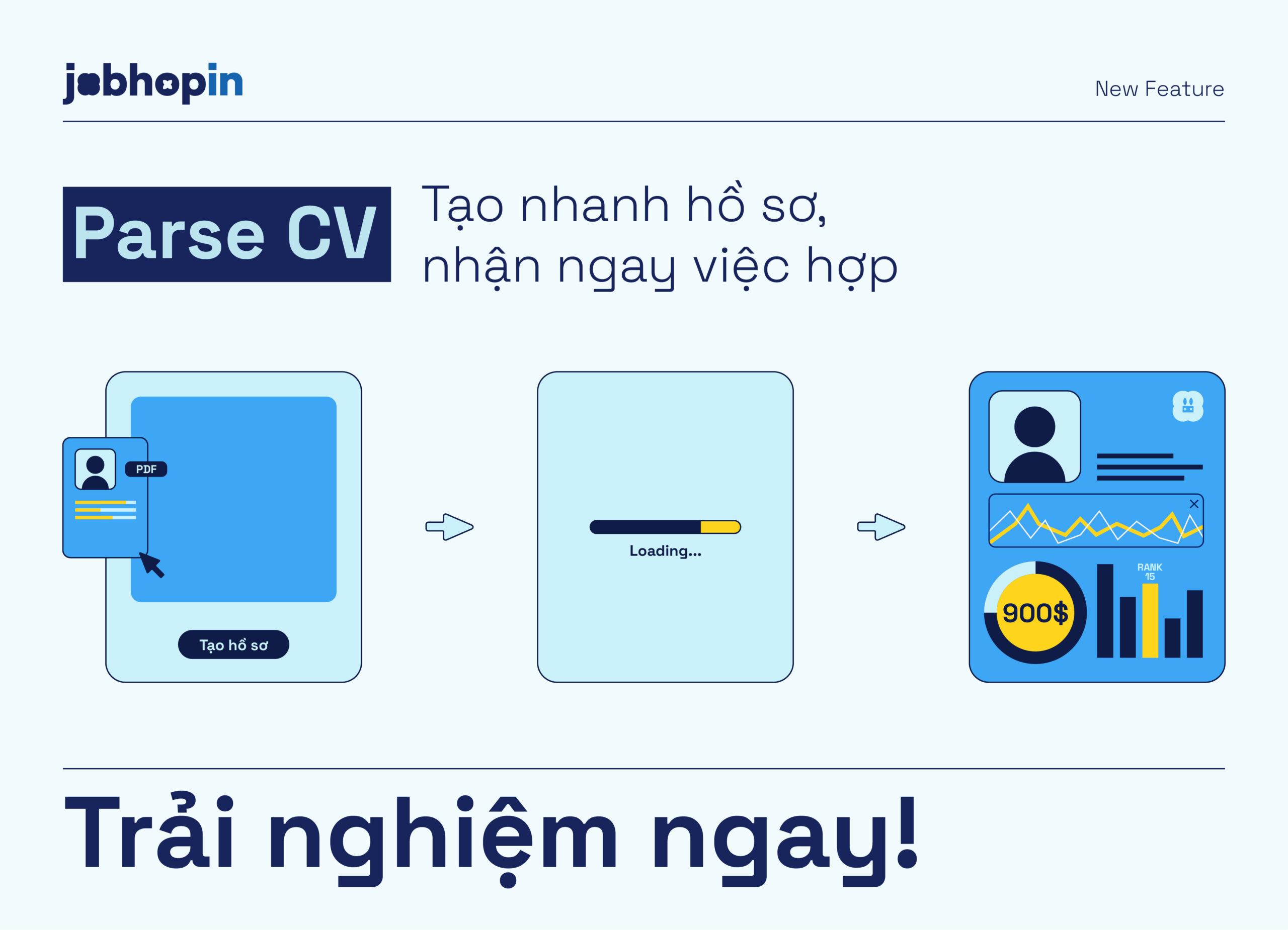 4 lý do bạn nên trải nghiệm Parse CV của JobHopin